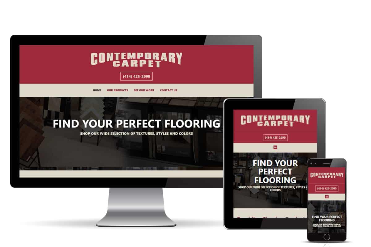 Contemporary Carpet website design