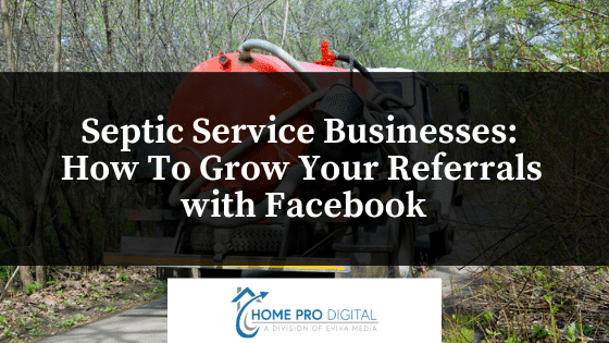 septic service companies grow with facebook