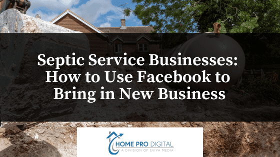 septic service companies use facebook new business