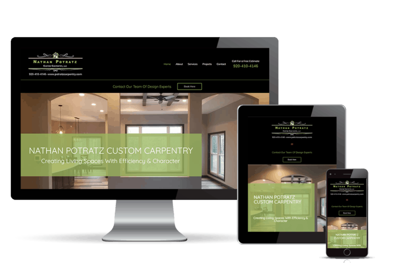 Potratz Custom Carpentry banner home page