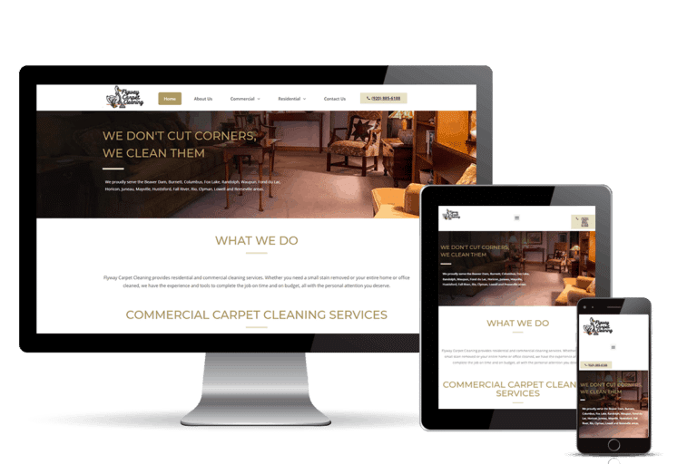 carpet cleaning banner home page