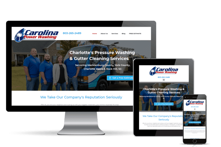 powerwash website design