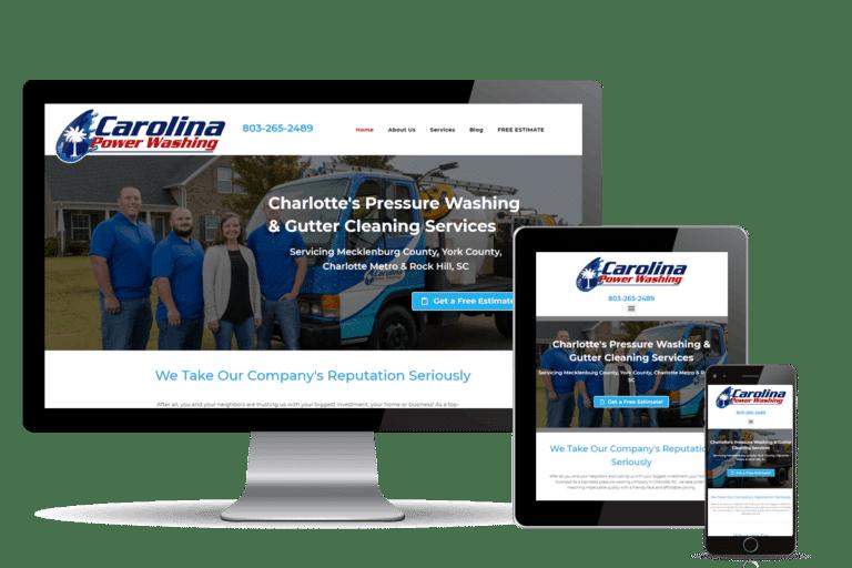 SEO and marketing tools for Carolina Power Washing