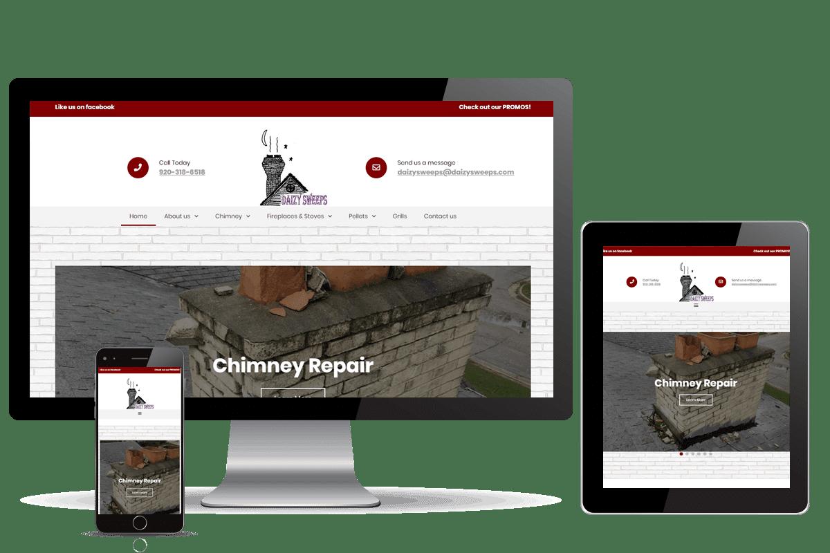 chimney repair website design