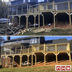 before and after exterior design of a house