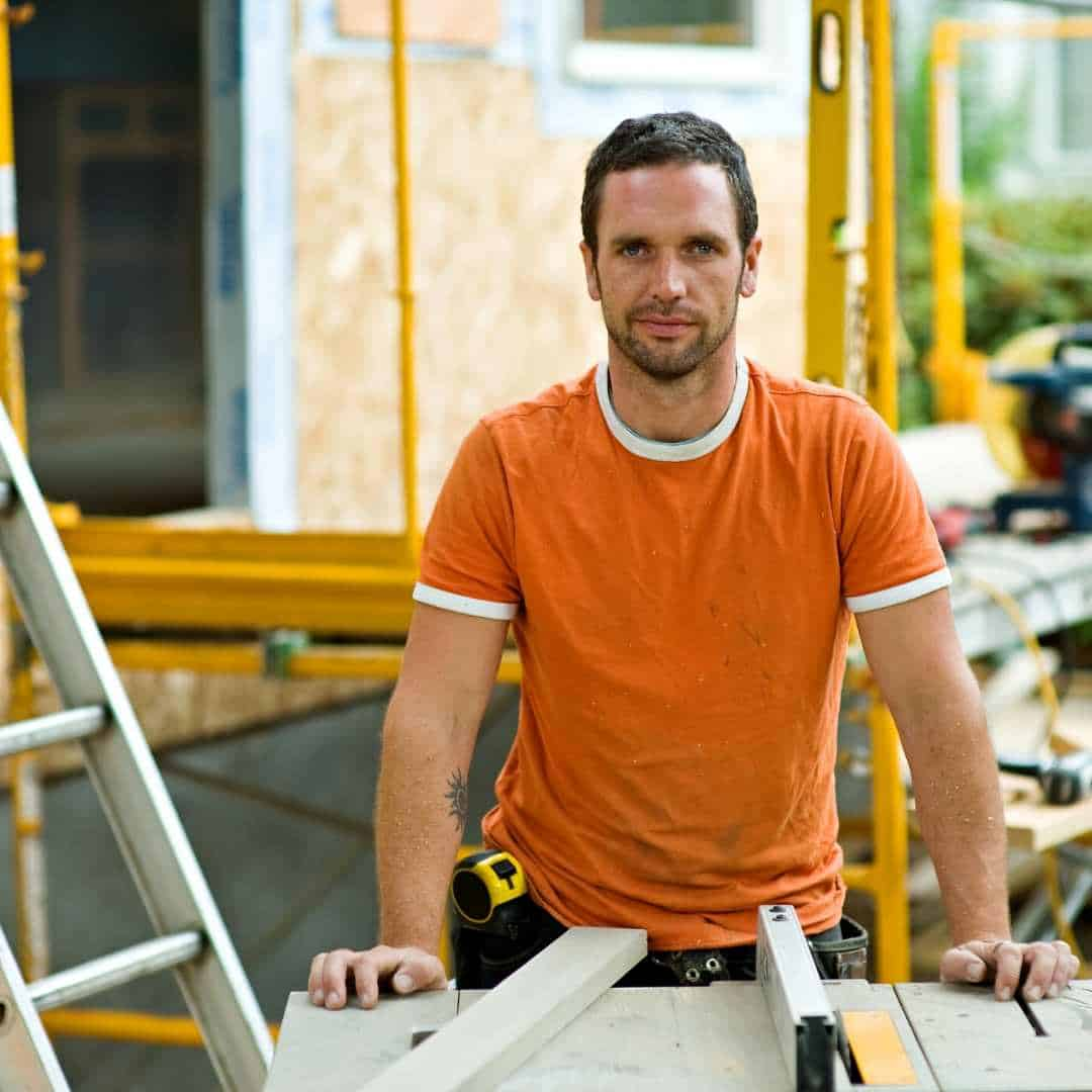 male contractor at work