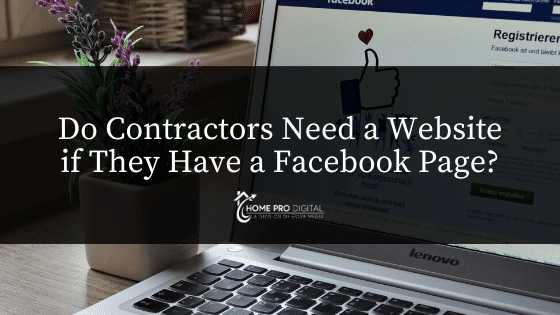 websites for contractors and facebook page