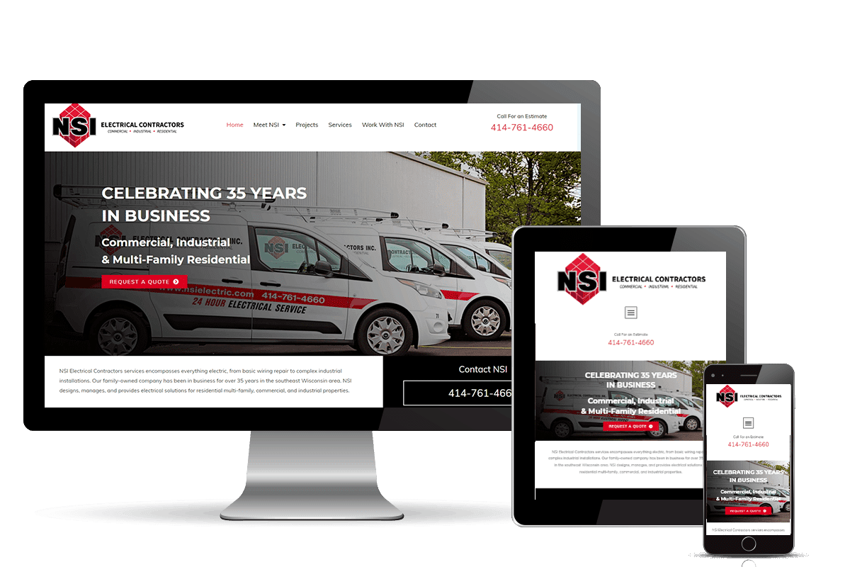 contractor website design for NSI Electrical contractor
