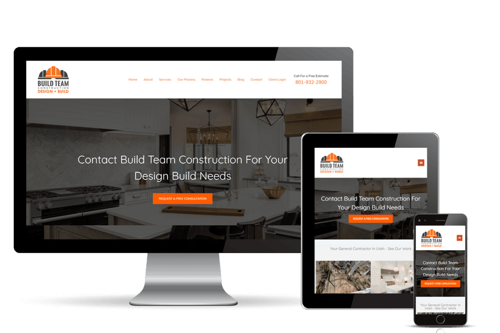 construction web design for Build Team Construction