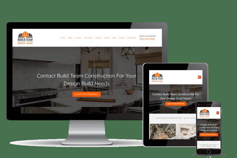 construction web design for Build Team Construction