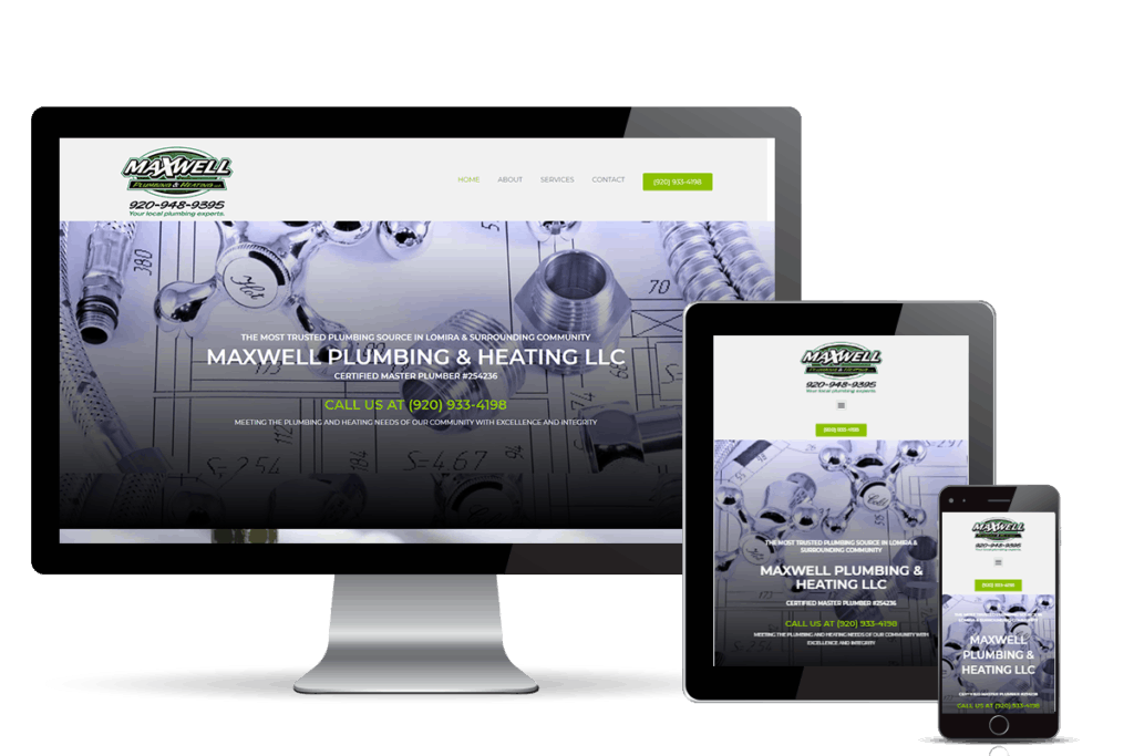 plumber marketing for Maxwell Plumbing & Heating