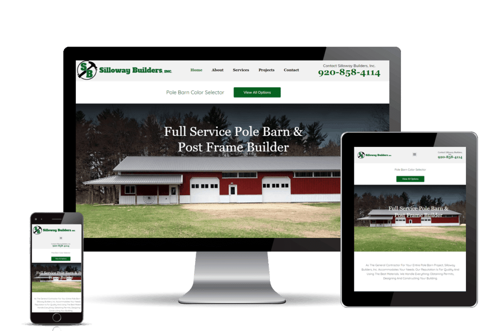 website design pole barn builder