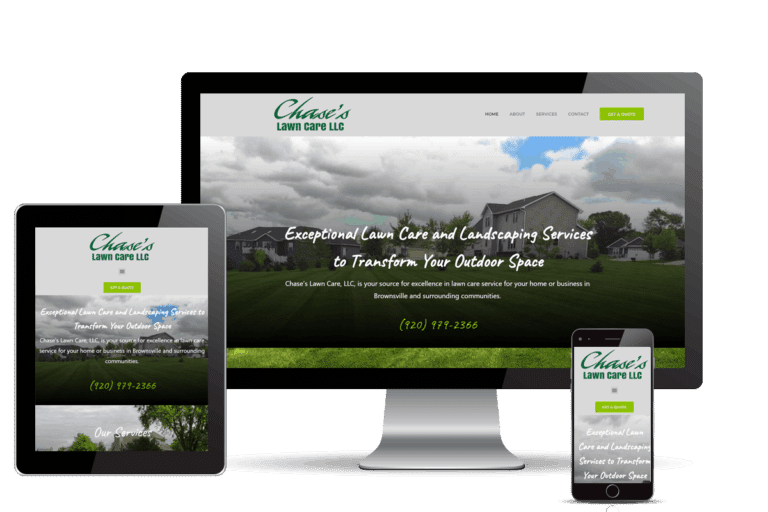 Chase's Lawn Care Website Redesign