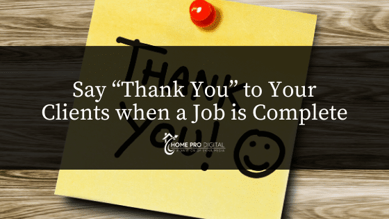 hvac marketing strategies by saying thank you to clients