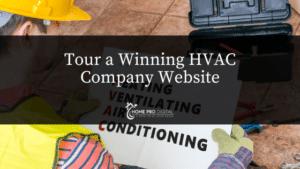HVAC Company Website page design