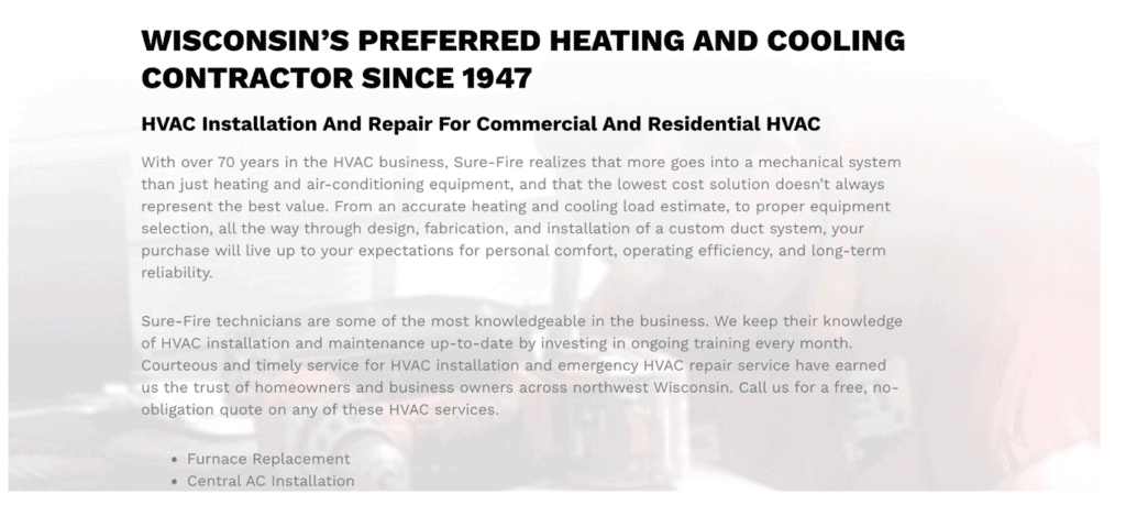 Wisconsin's preferred heating and cooling contractor
